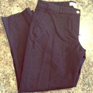 Michael Kors Navy Cropped Dress Pant, Petite